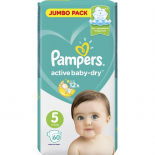 PAMPERS Подг.ACT.BABY-DRY 11-16 р5 60шт
